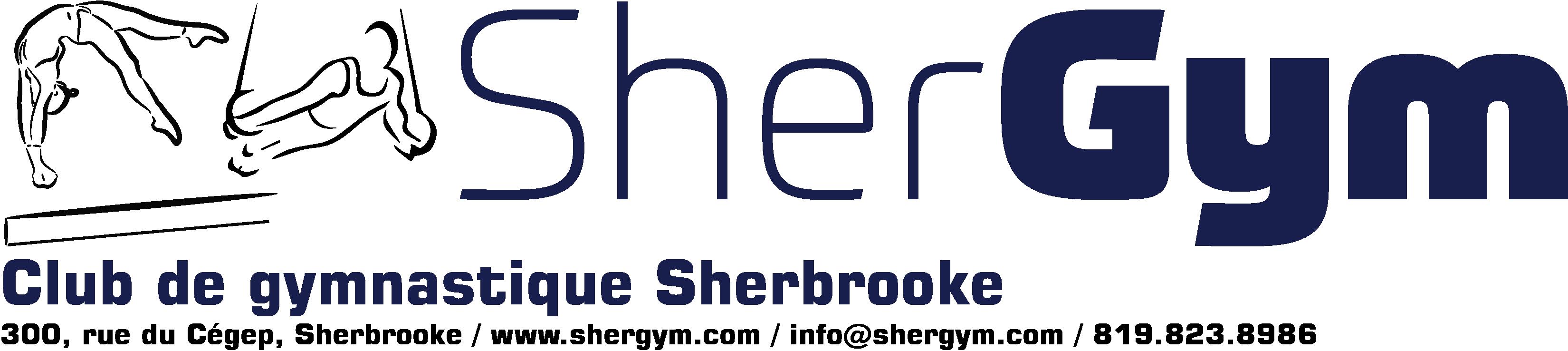 logo Shergym horizontal, adresse