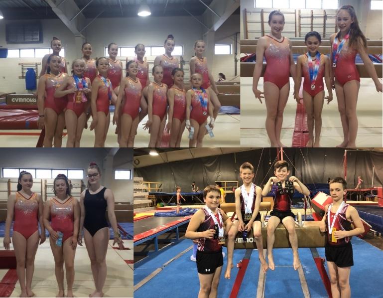 Une première place pour l'Estrie au Challenge des régions et plus de 20 récompenses aux Championnats Québécois pour la gymnastique artistique masculine dans la catégorie régionale!